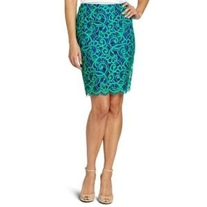 Lilly Pulitzer Skirts - Lilly Pulitzer Hyacinth Lace Pencil Skirt